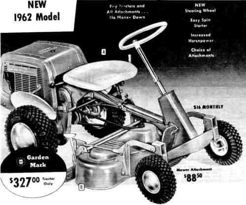 Montgomery Ward riding mower rebuild - Ask Me Help Desk