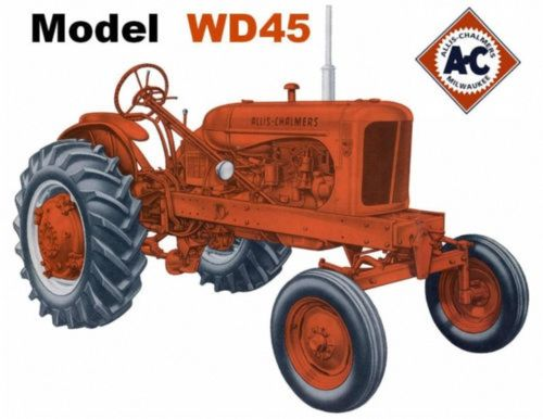 ALLIS-CHALMERS-WD45-WIDE-FRONT-Tractor-Mouse-Pad-Mats-Mousepad-Offer-1