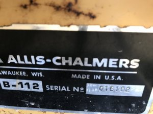 B-112 Serial Number Start?