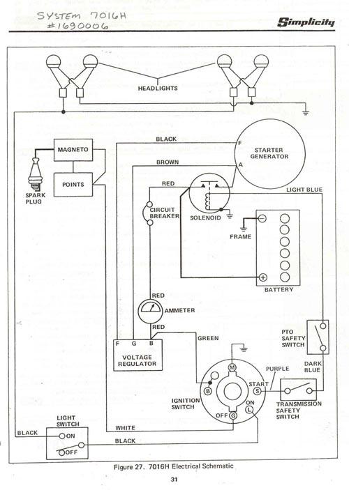 7016 simplicity tractor wiring diagram 7016 wiring diagrams