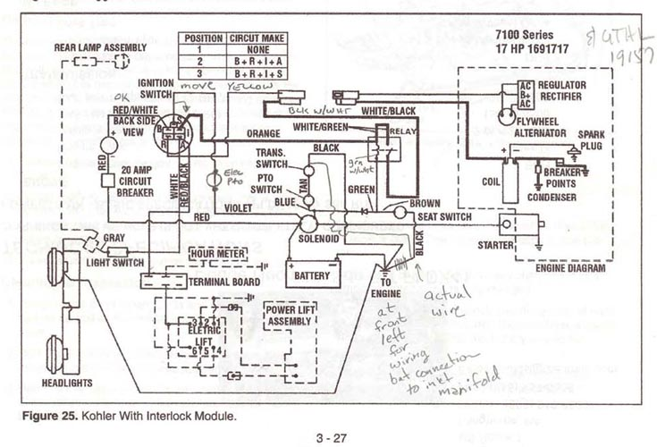 Need wiring help for 7116 repower Talking Tractors Simple trACtors – Kohler Magnum 16 Wiring-diagram