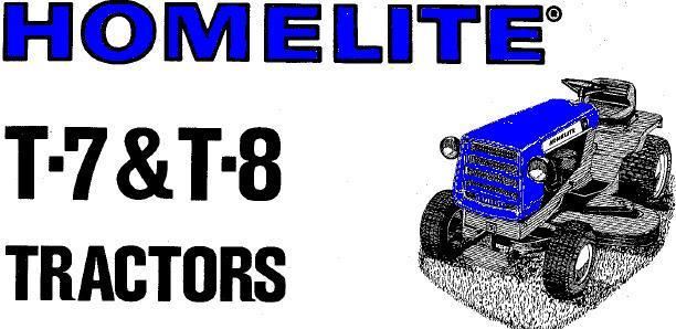 Homelite T 8 Talking Tractors Simple Tractors