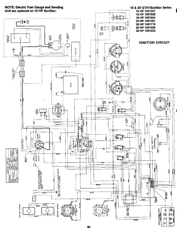 simplicity sunstar 20 wiring diagram