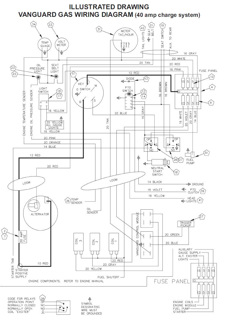 wire up vanguard engine talking tractors simple tractors rh simpletractors com Universal Ignition Switch Wiring Diagram Vanguard Engines Troubleshooting