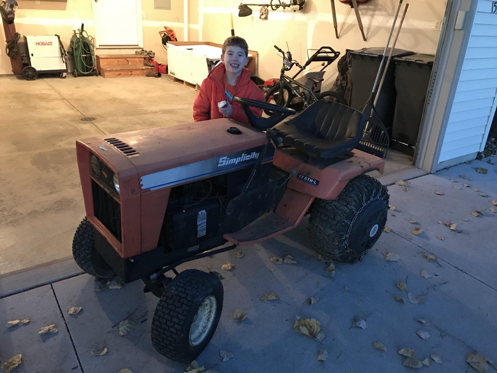 simplicity 7100 series garden tractor