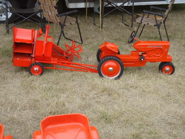 AC WD Pedal Tractor w/custom built AC pull type combine