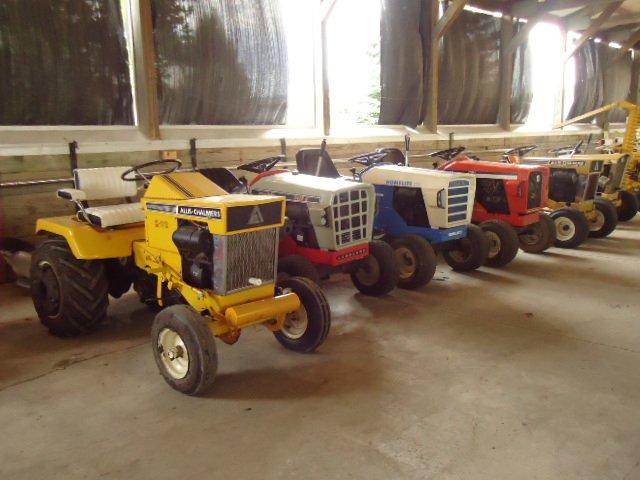 AC/Simplicity made garden tractors on display