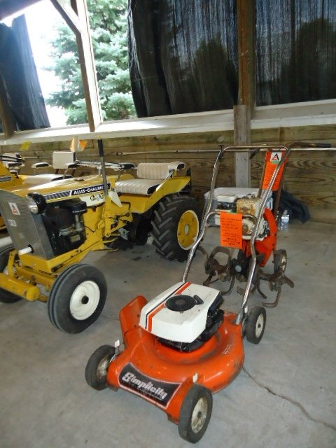 AC orange lawnmower