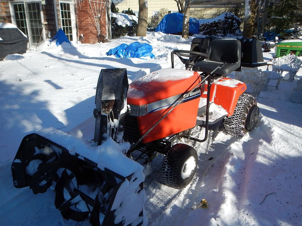 SNOW BLOWER SET UP