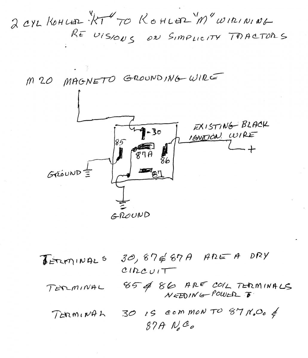 Simplicity 7119 Ignition Switch Advice Needed Talking